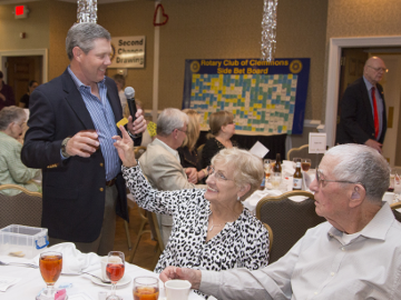 PIctured: Cash Raffle Floor Manager Greg Stimmell and guests